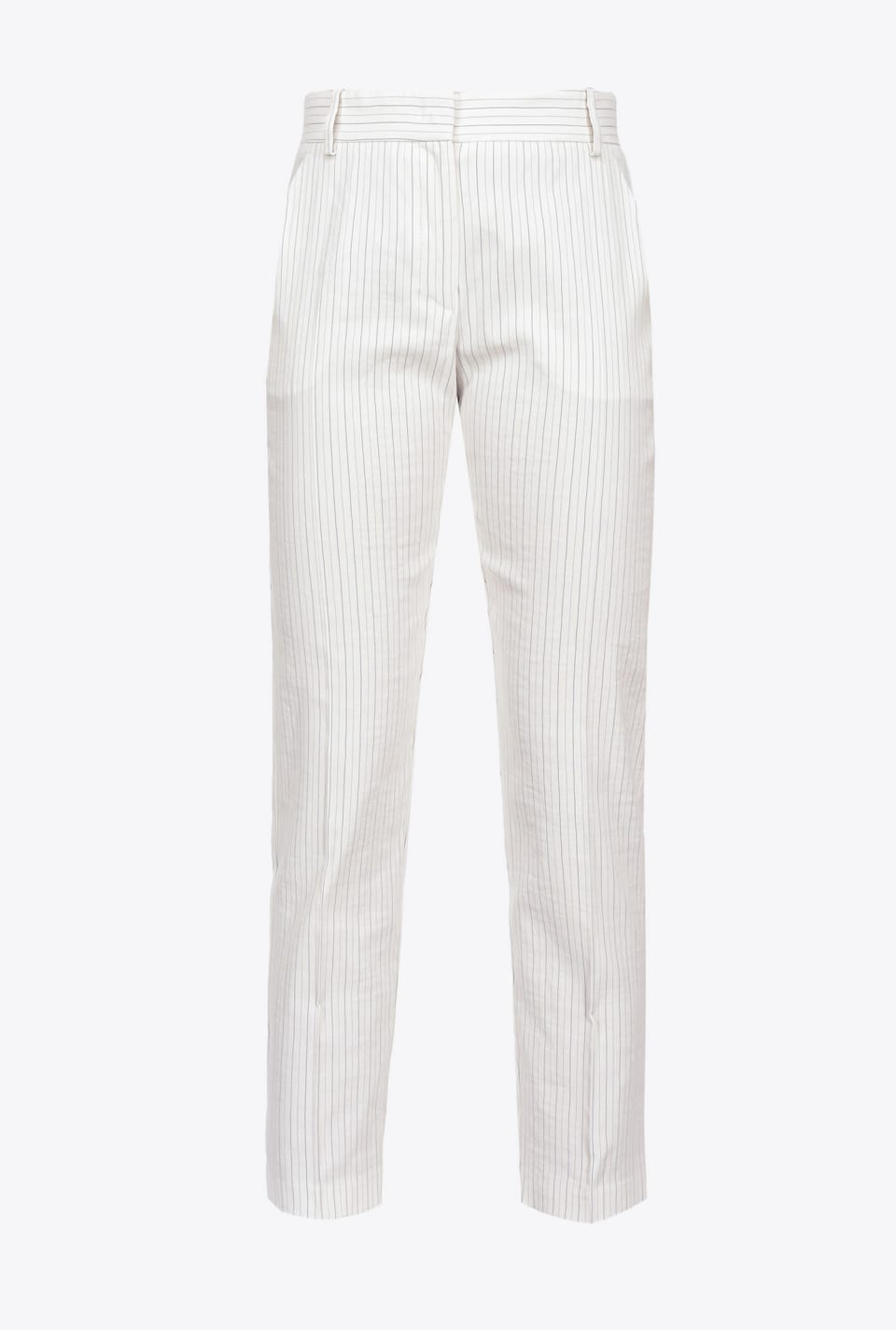 Pinstripe linen cigarette-fit trousers - Pinko