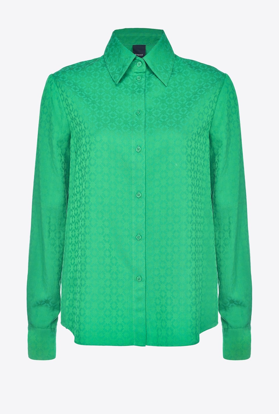 Shirt in geometric jacquard - Pinko
