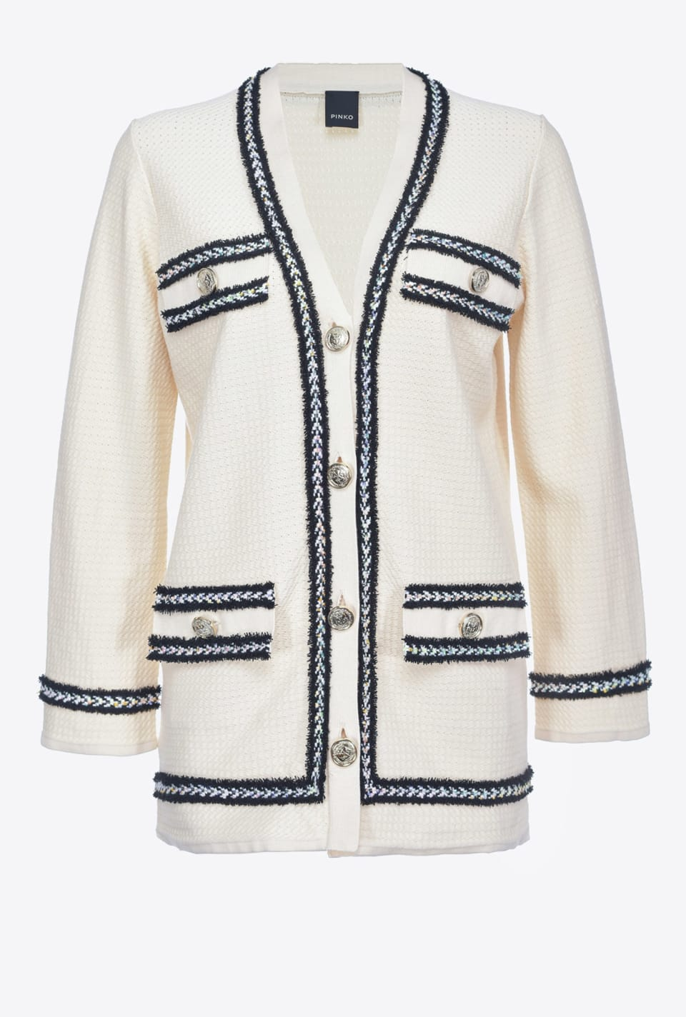 Cardigan with metal buttons - Pinko