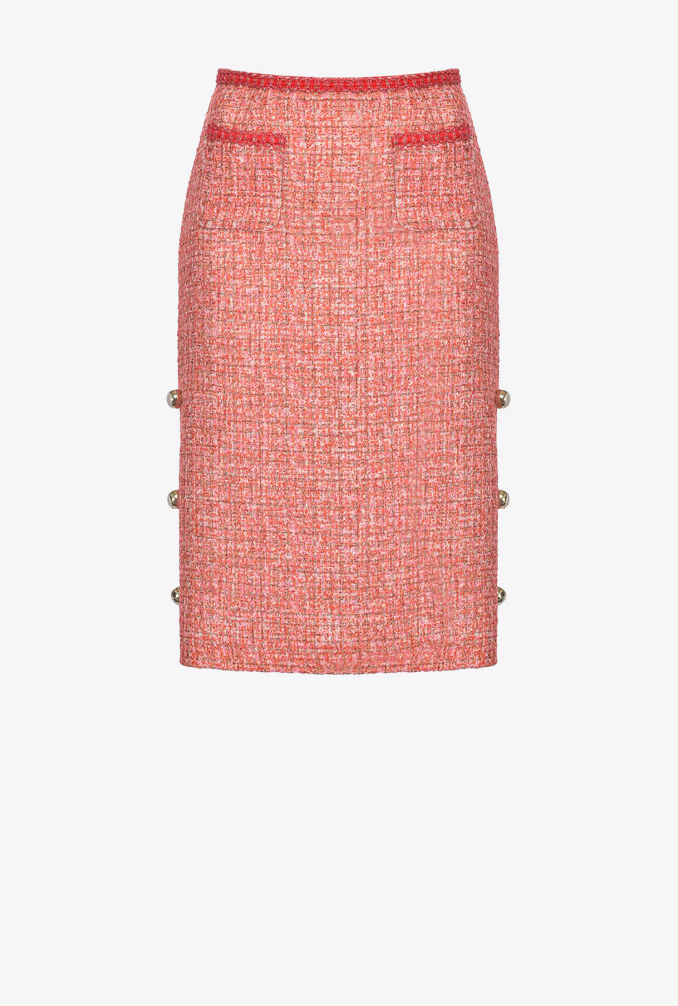 Lurex tweed midi skirt - Pinko