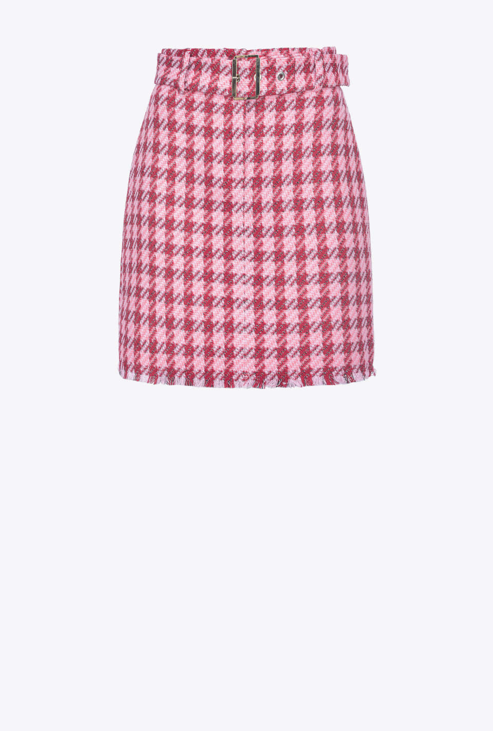 Mini skirt in large check hopsack - Pinko