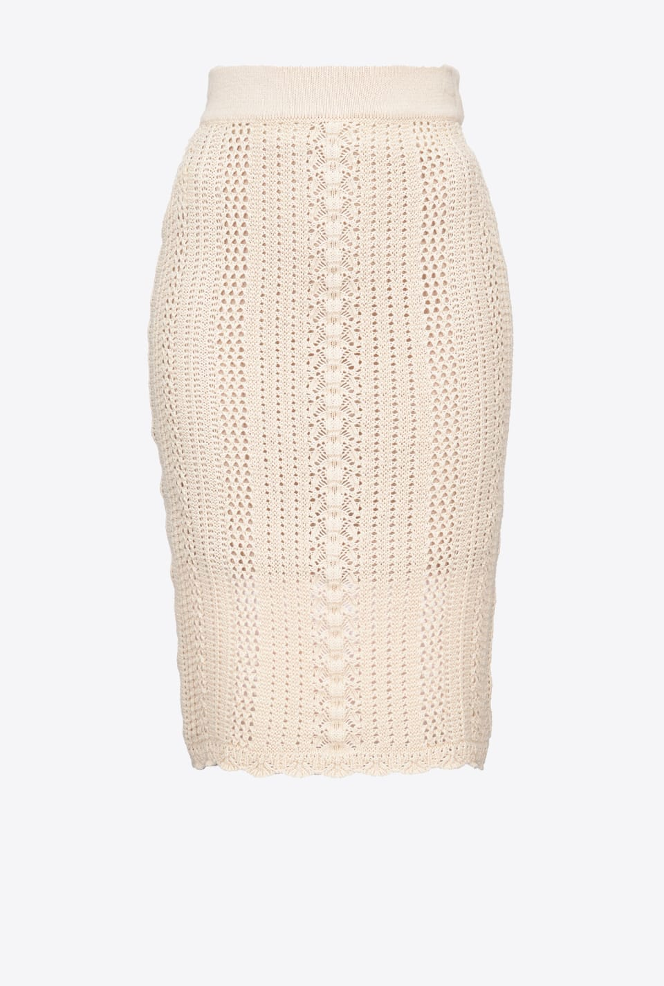 Cotton crochet midi skirt - Pinko