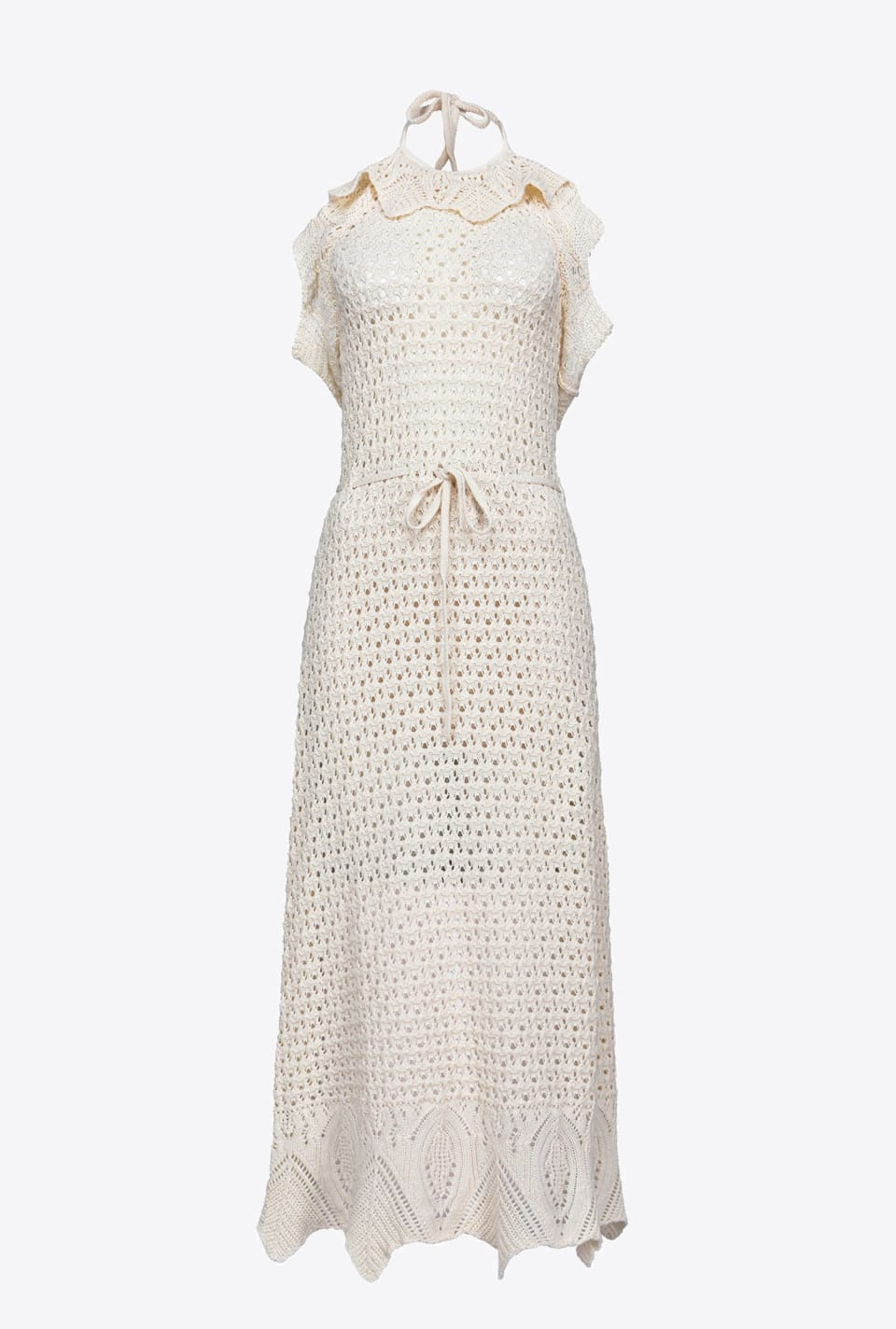 Long cotton crochet dress - Pinko
