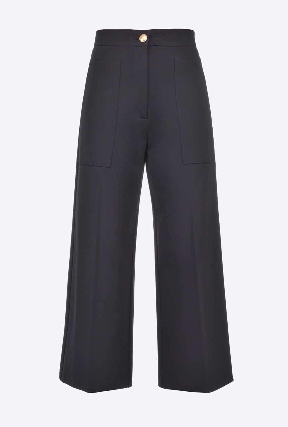 Scuba-effect wide-leg trousers - Pinko