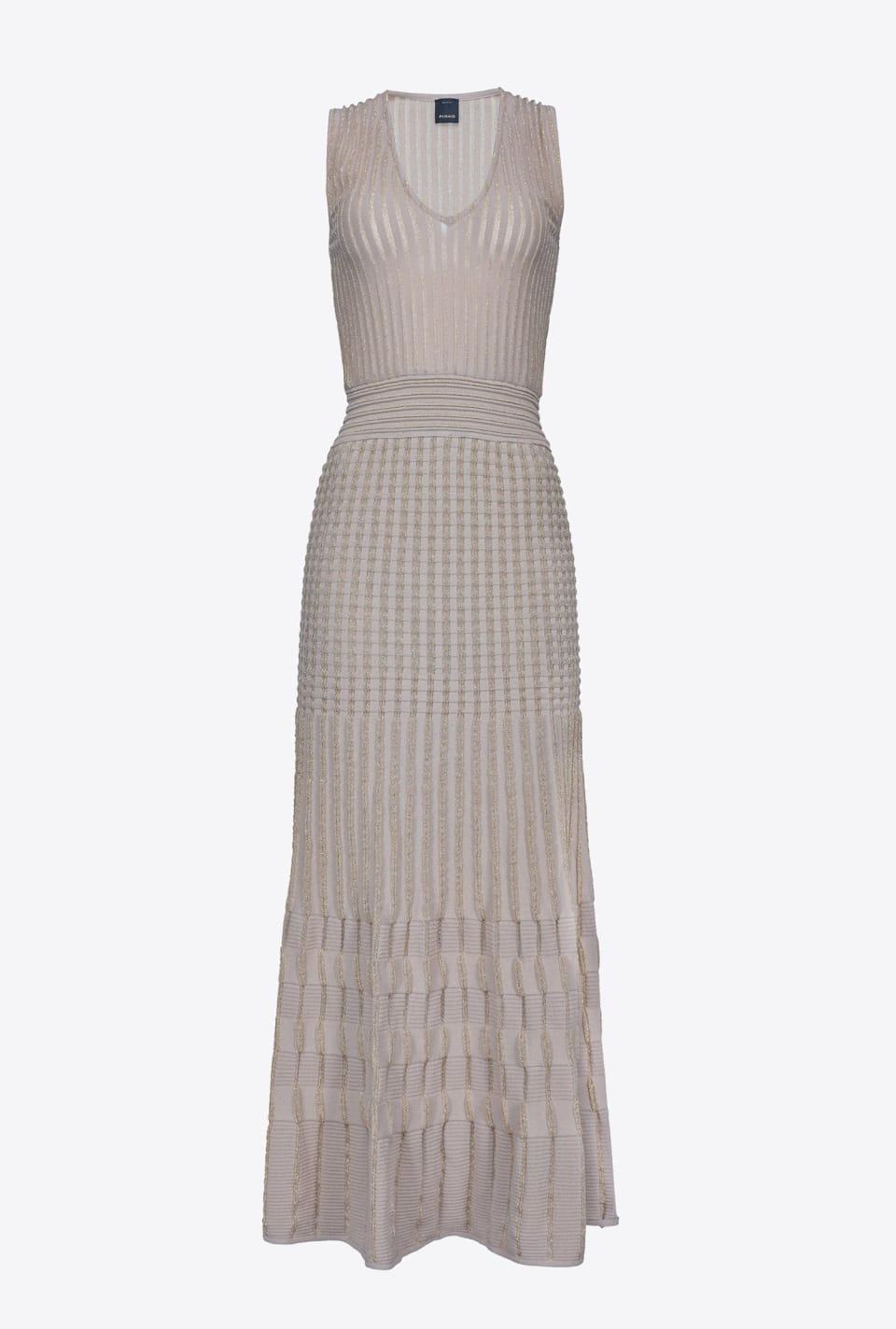 金属丝和棉长款连衣裙 - Pinko