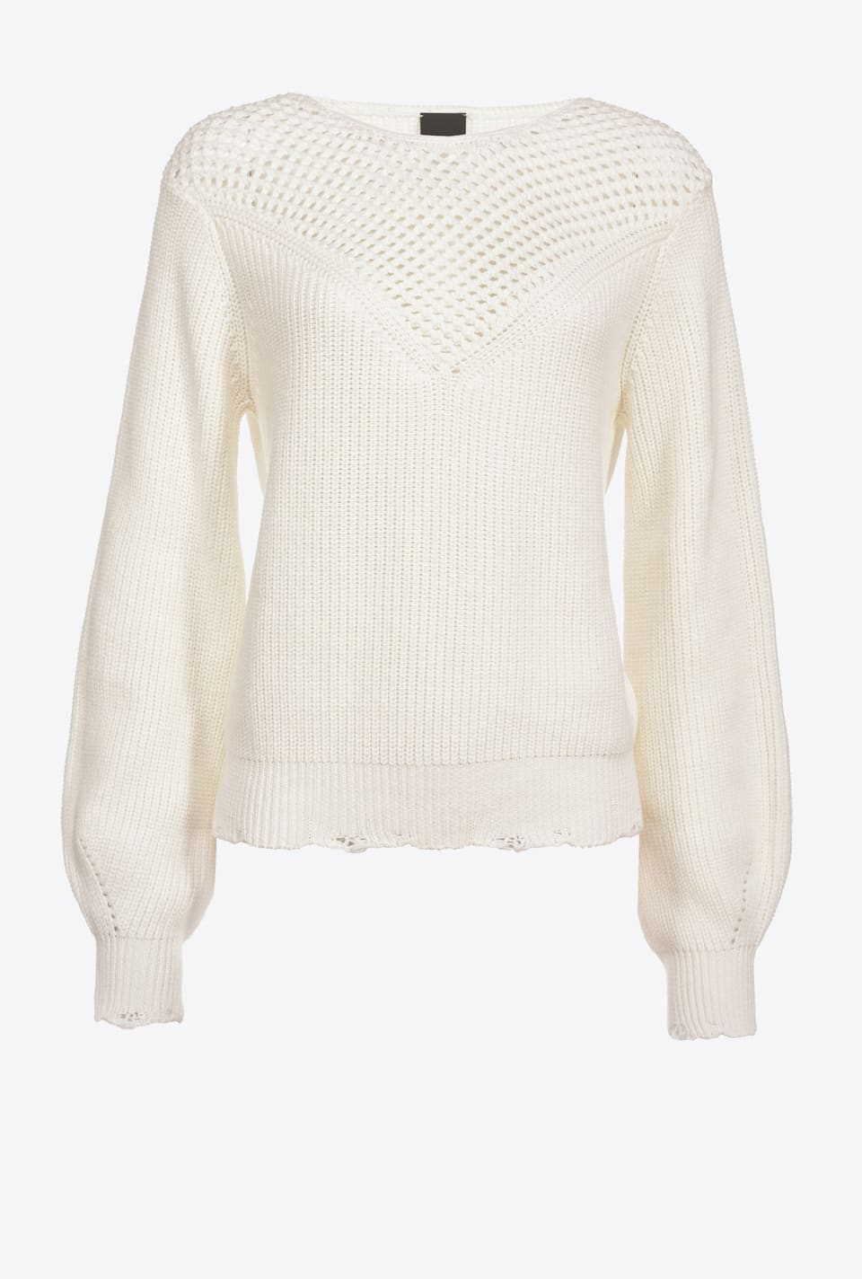 Cotton rib-knit sweater - Pinko