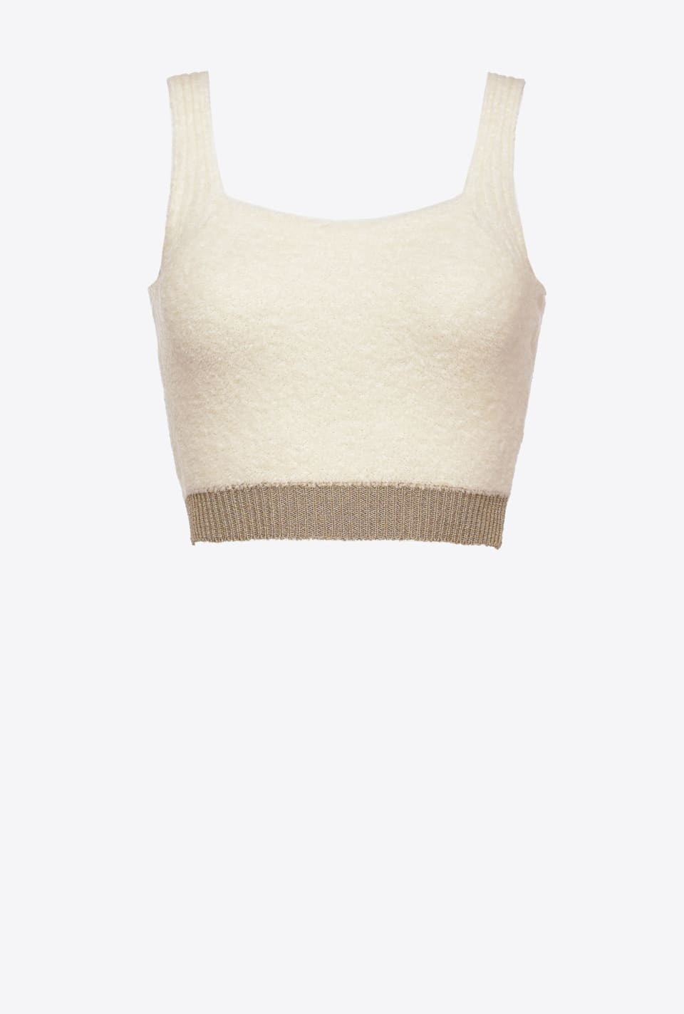 Crop-Top mit Lurexrand - Pinko