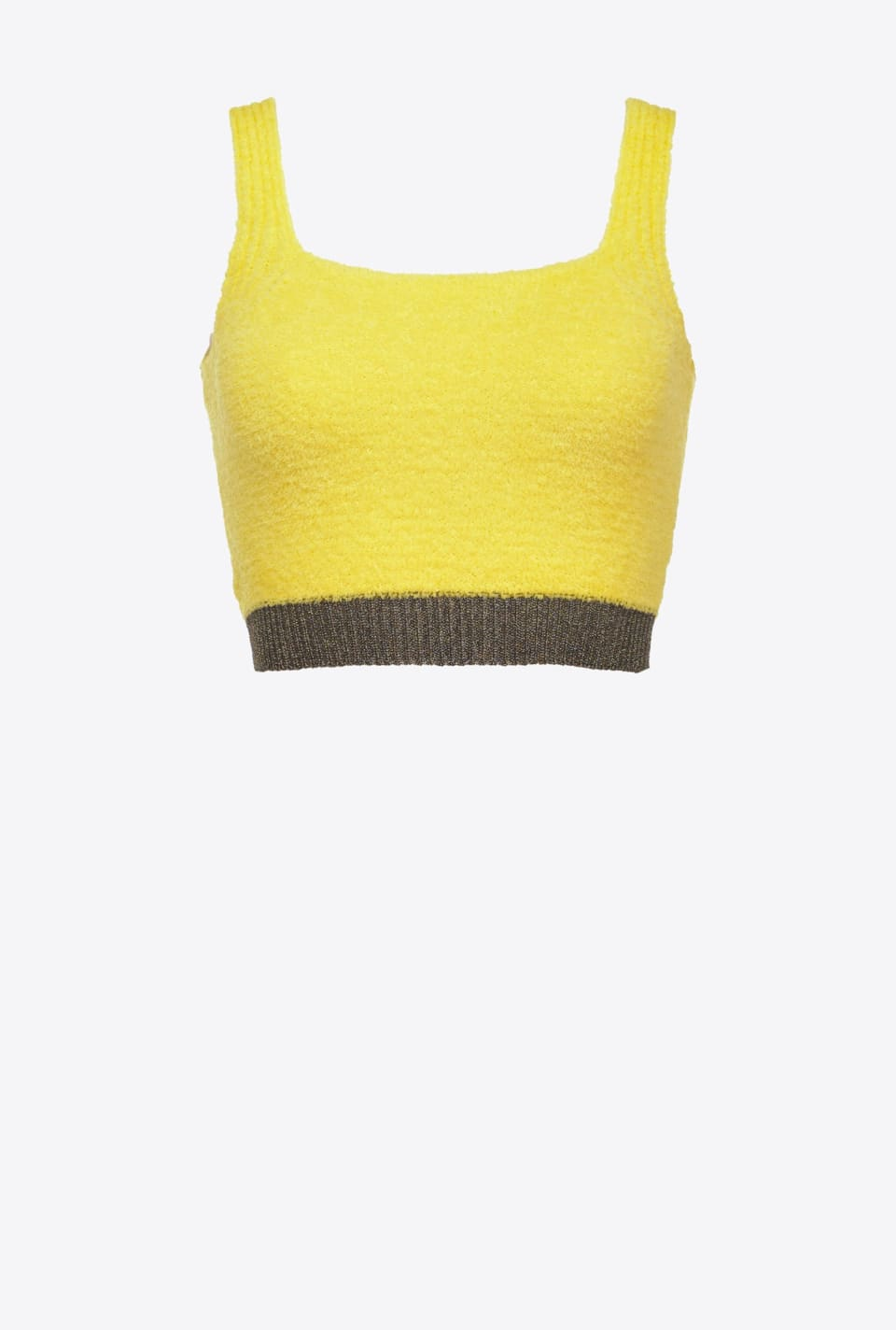 Crop top with lurex trim - Pinko
