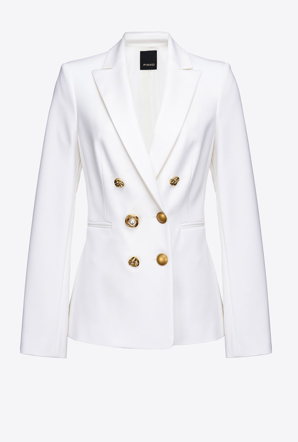 Technical blazer with metal buttons - Pinko