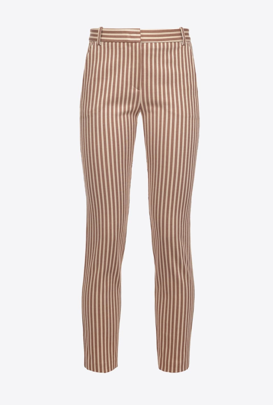 Striped cigarette-fit trousers - Pinko