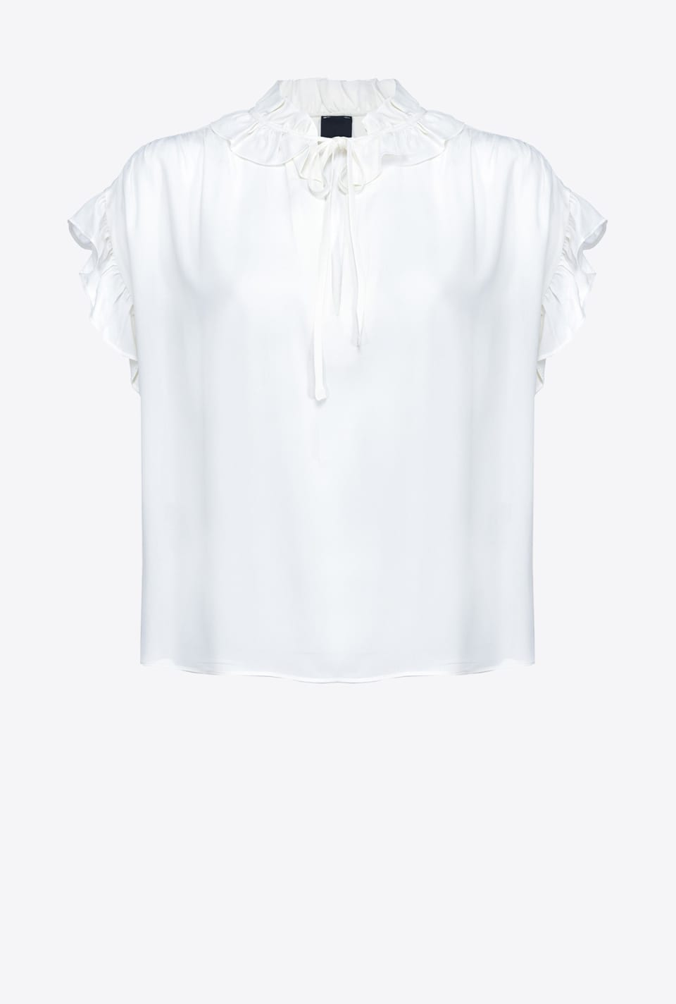 Sleeveless blouse with ruffles - Pinko