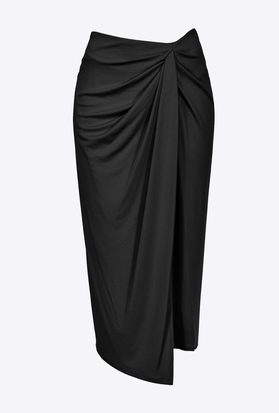 Midi skirt with gathered motif - Pinko