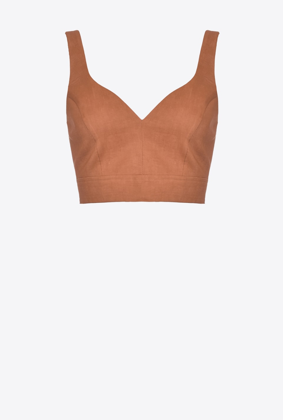 Crop top en toile de lin - Pinko