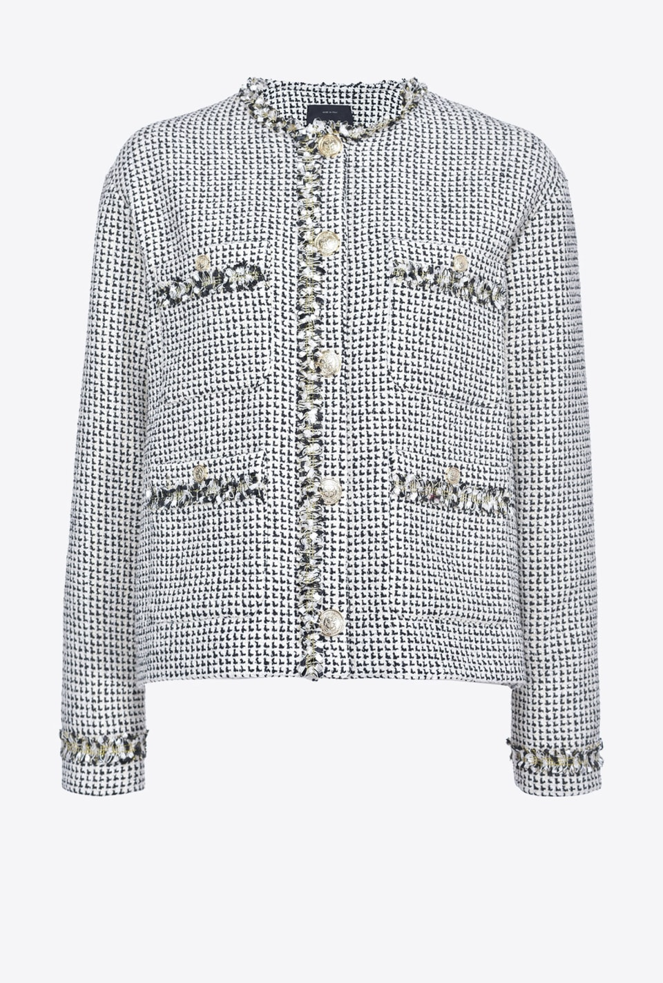Patterned tweed jacket - Pinko