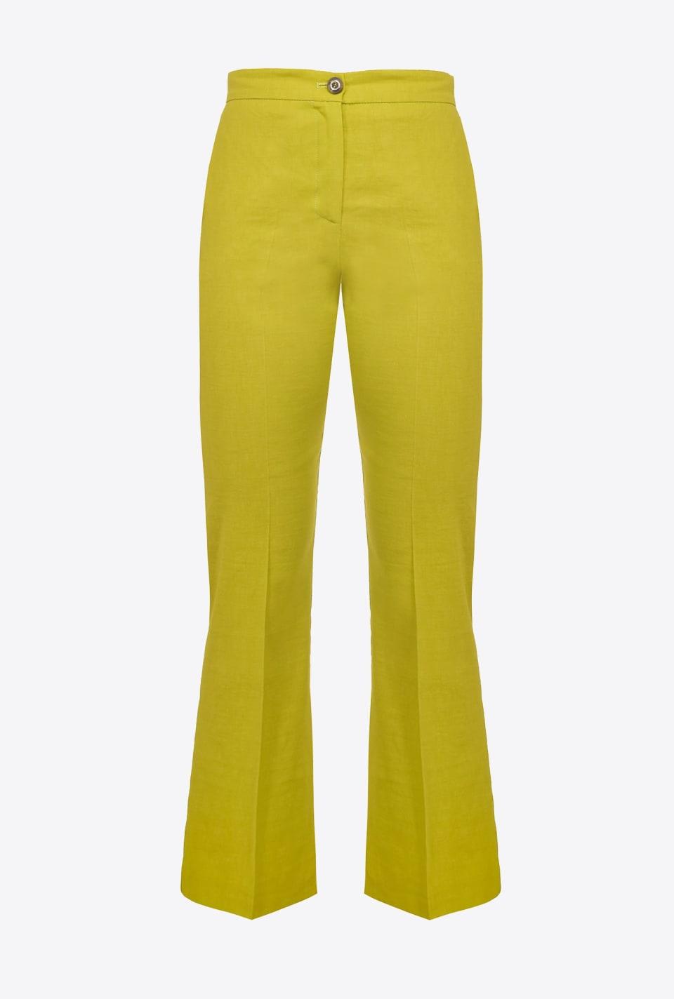Pantaloni flared in tela di lino - Pinko