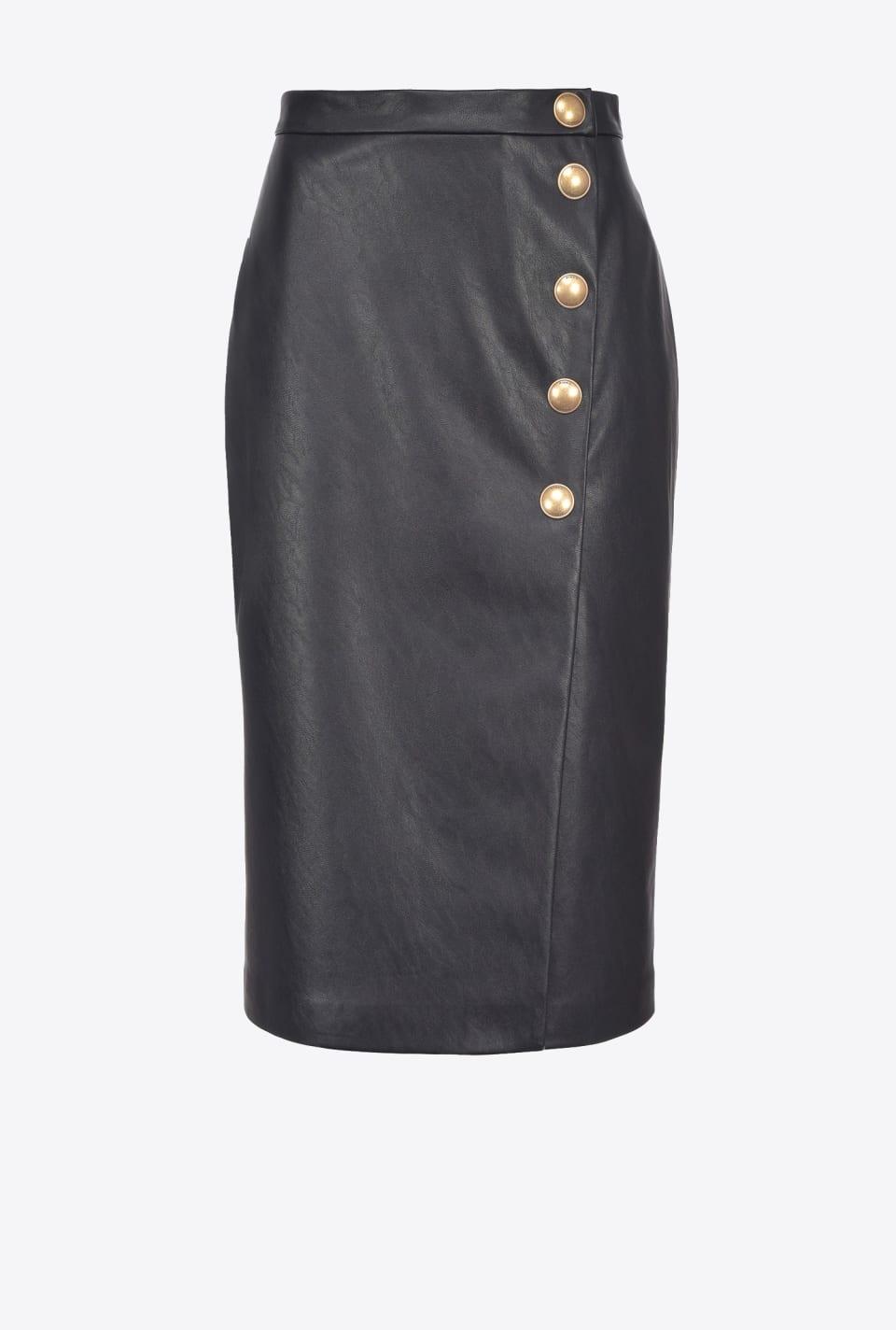 皮革效果中长半身裙 - Pinko