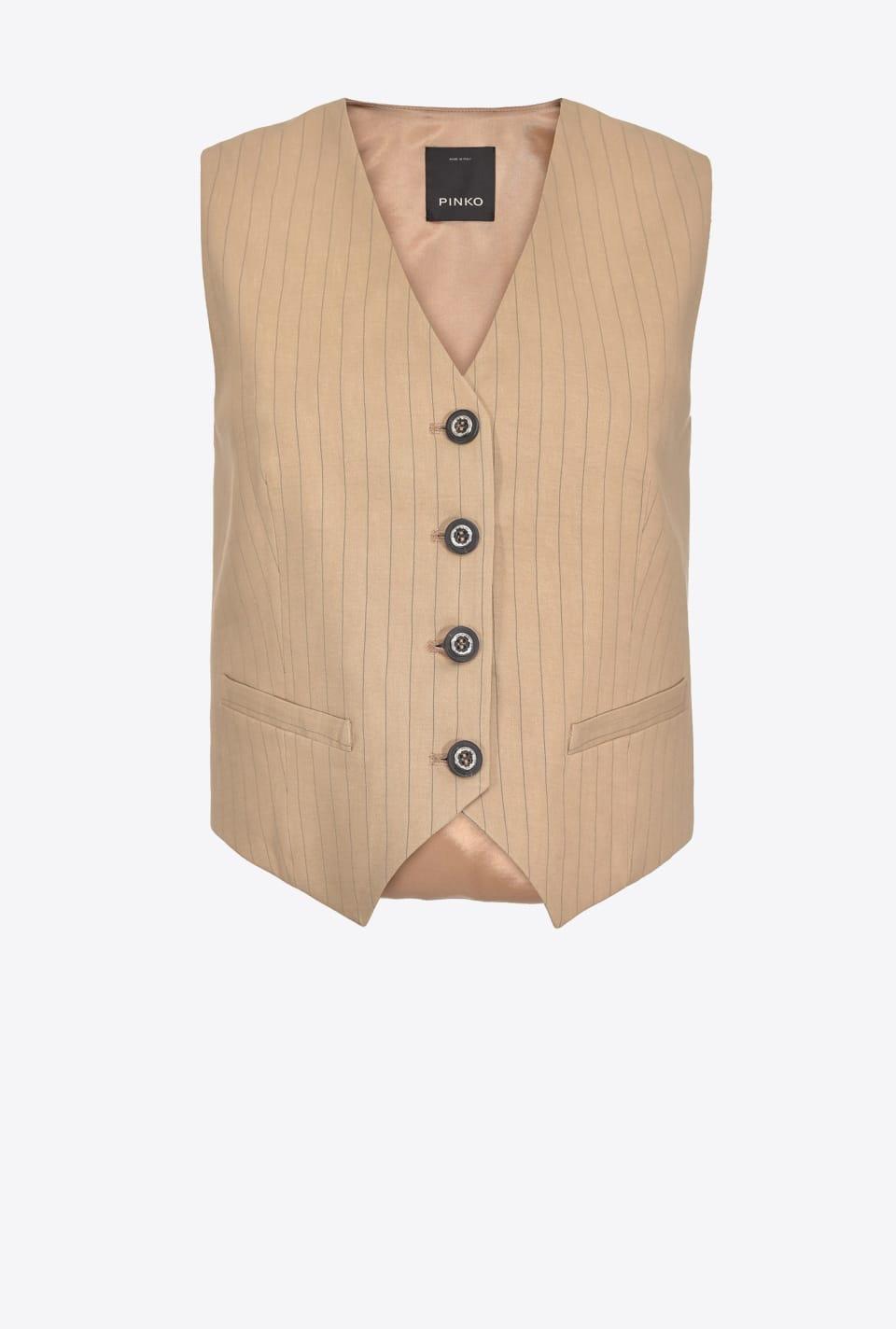 Pinstripe linen waistcoat - Pinko