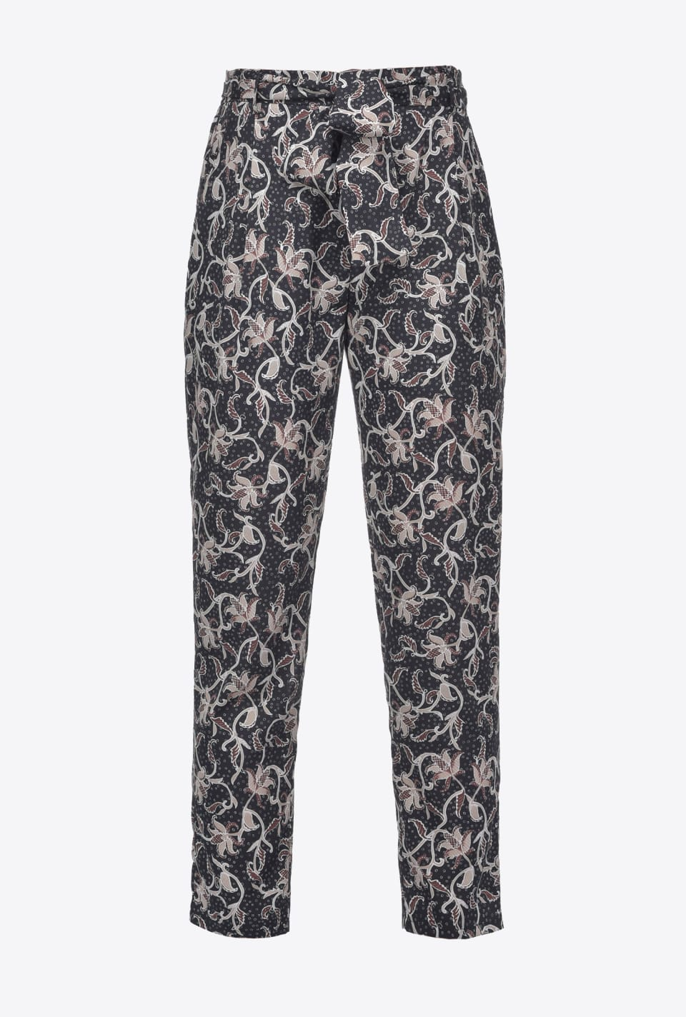 Foliage-print trousers - Pinko