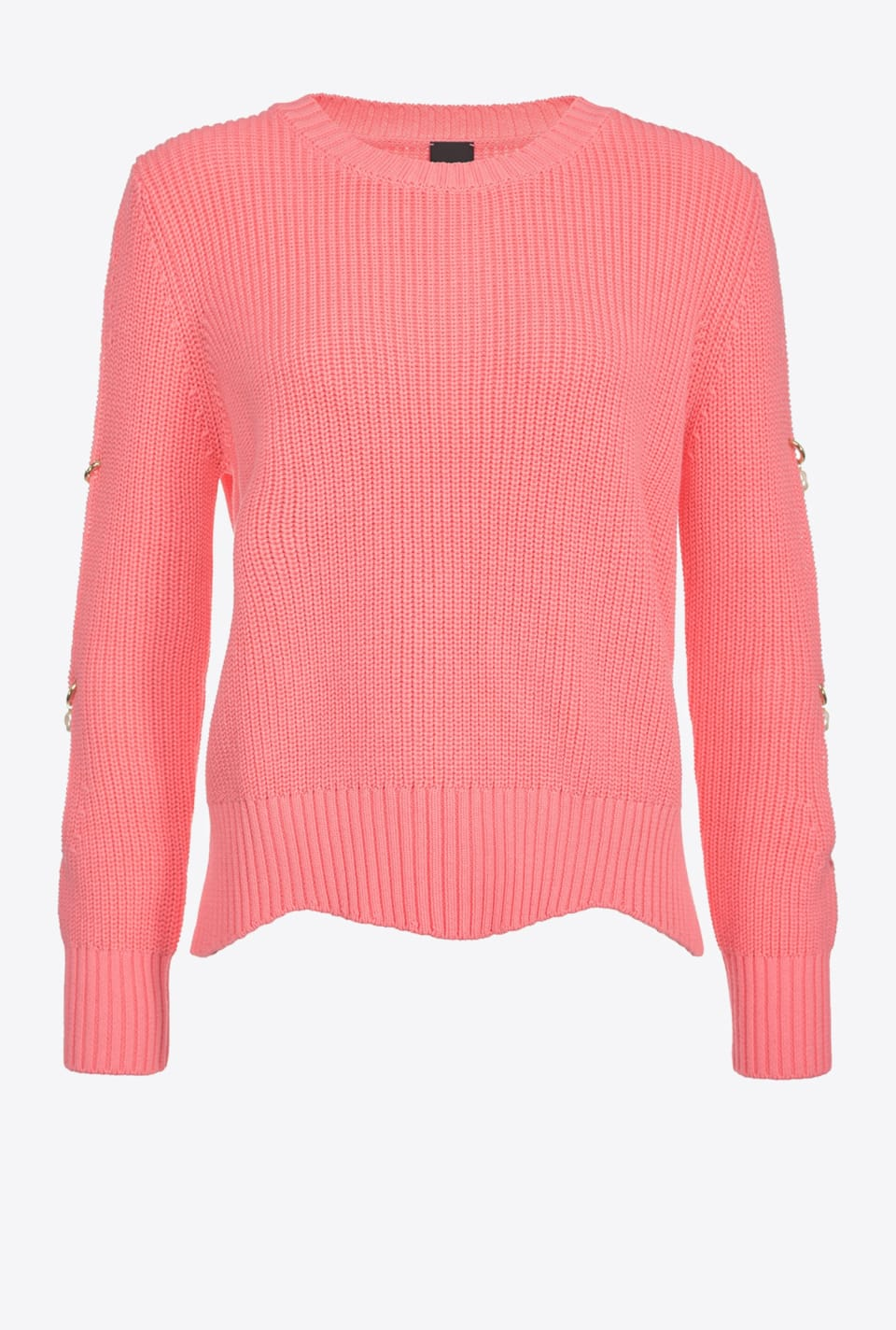 Rib knit top with pearls on the sides - Pinko
