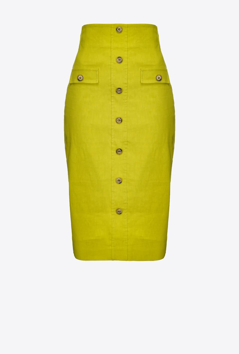 Falda longuette de tela de lino - Pinko