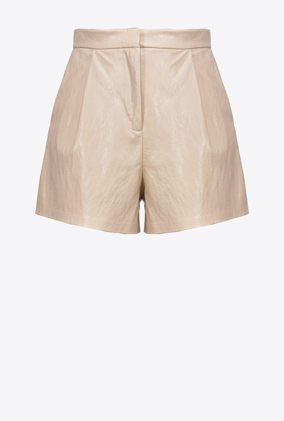 Washed leather-look shorts - Pinko