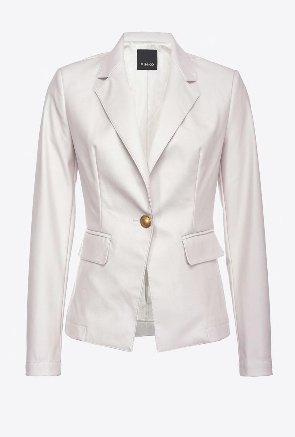 皮革效果西装外套 - Pinko