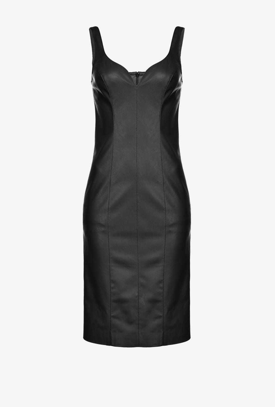 Leather-look sheath dress - Pinko