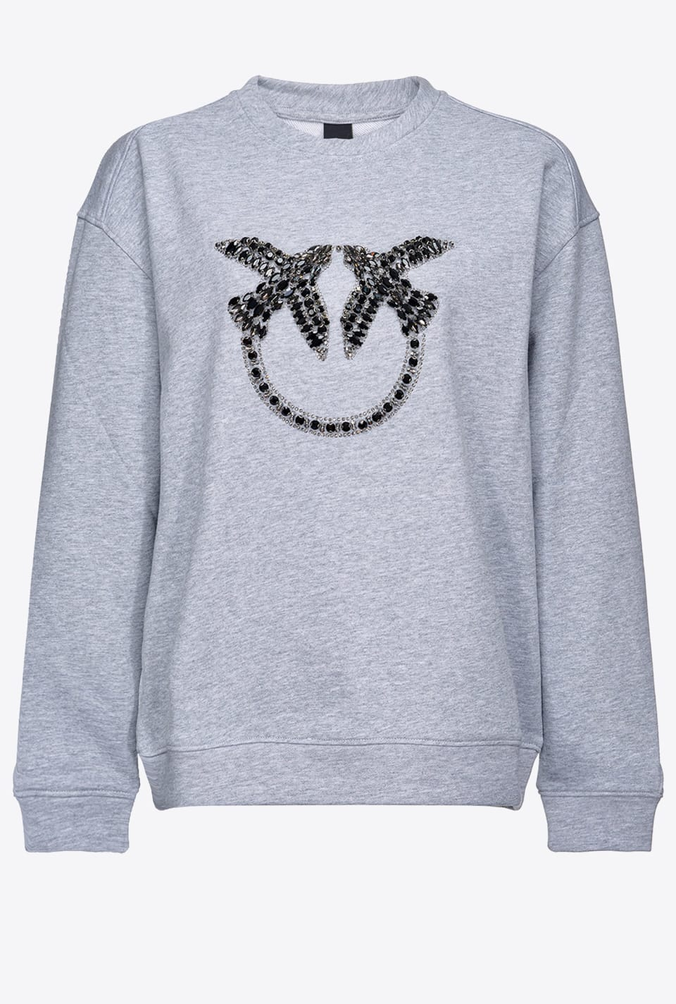 Sweat-shirt avec broderie Love Birds - Pinko