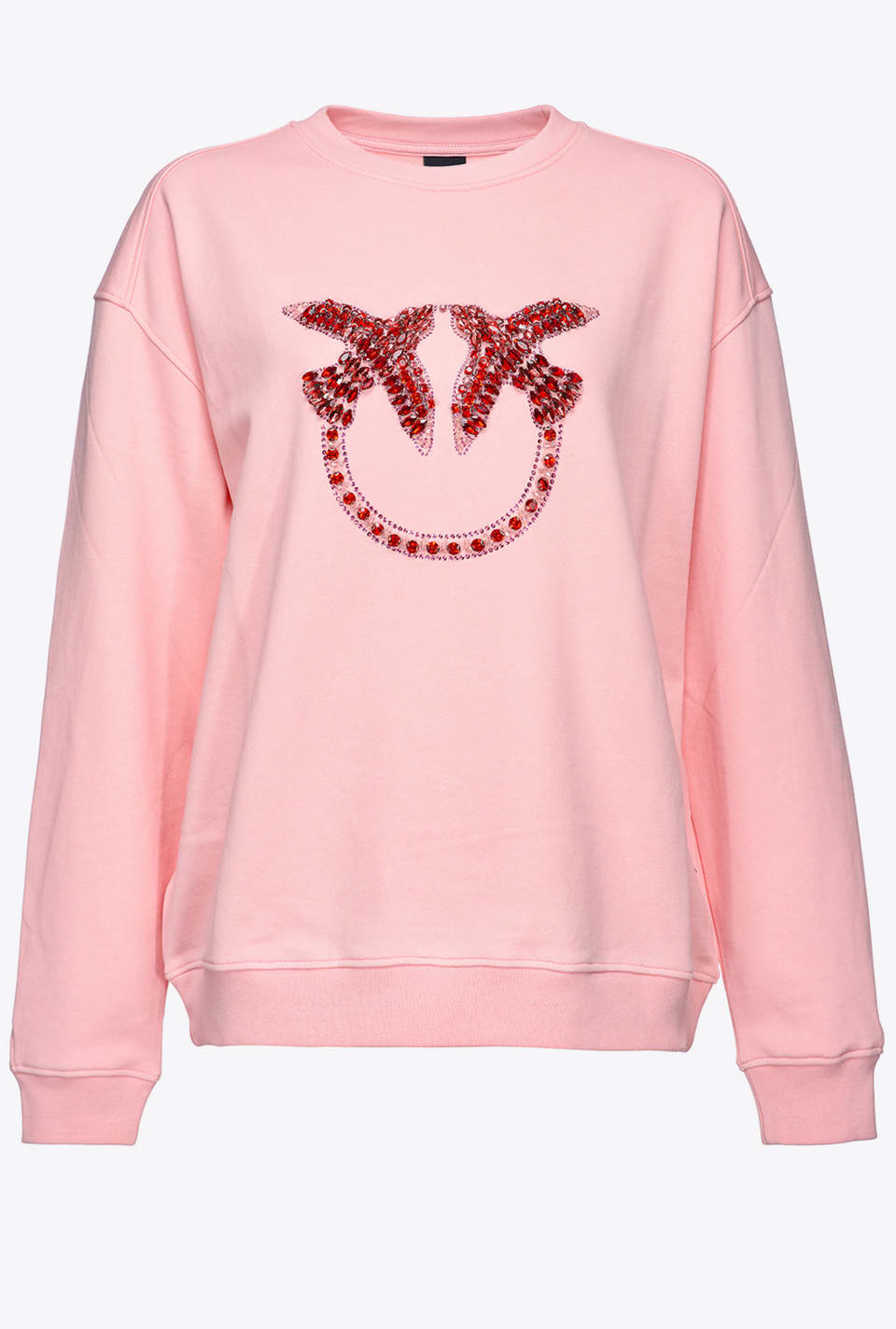 Love Birds embroidery sweatshirt - Pinko