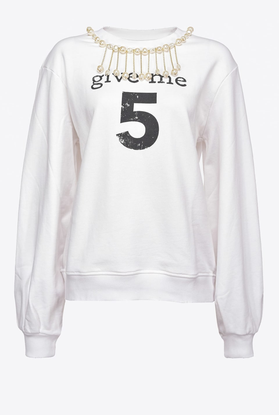 Sweat-shirt « Give Me 5 » - Pinko
