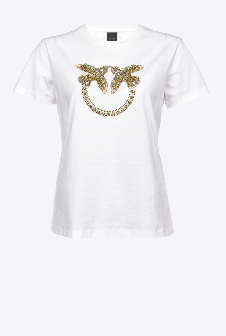 Camiseta con bordado Love Birds - Pinko