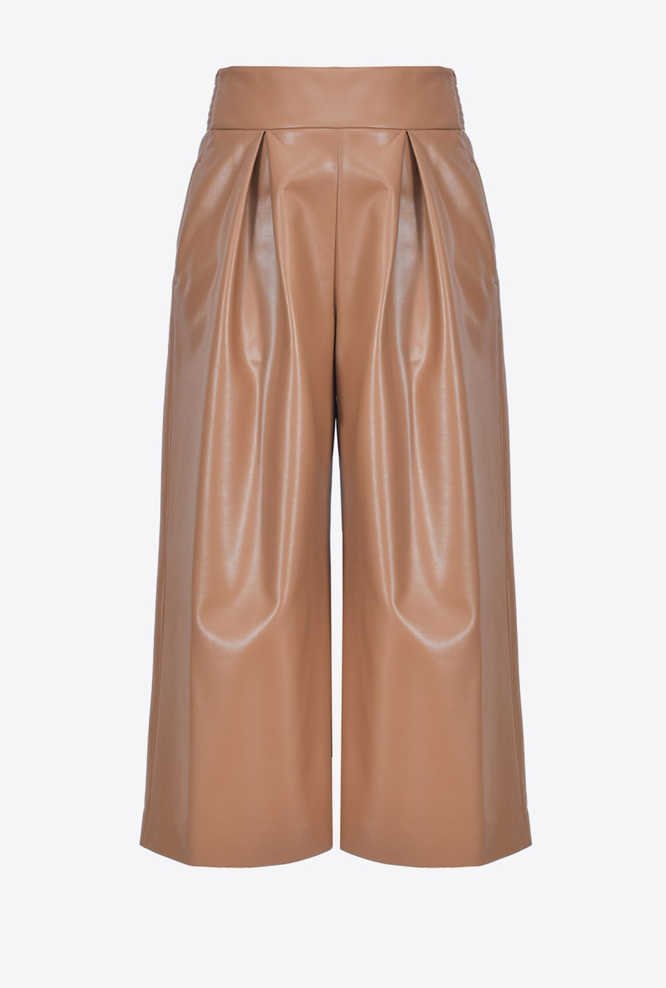 Wide leather-look trousers - Pinko