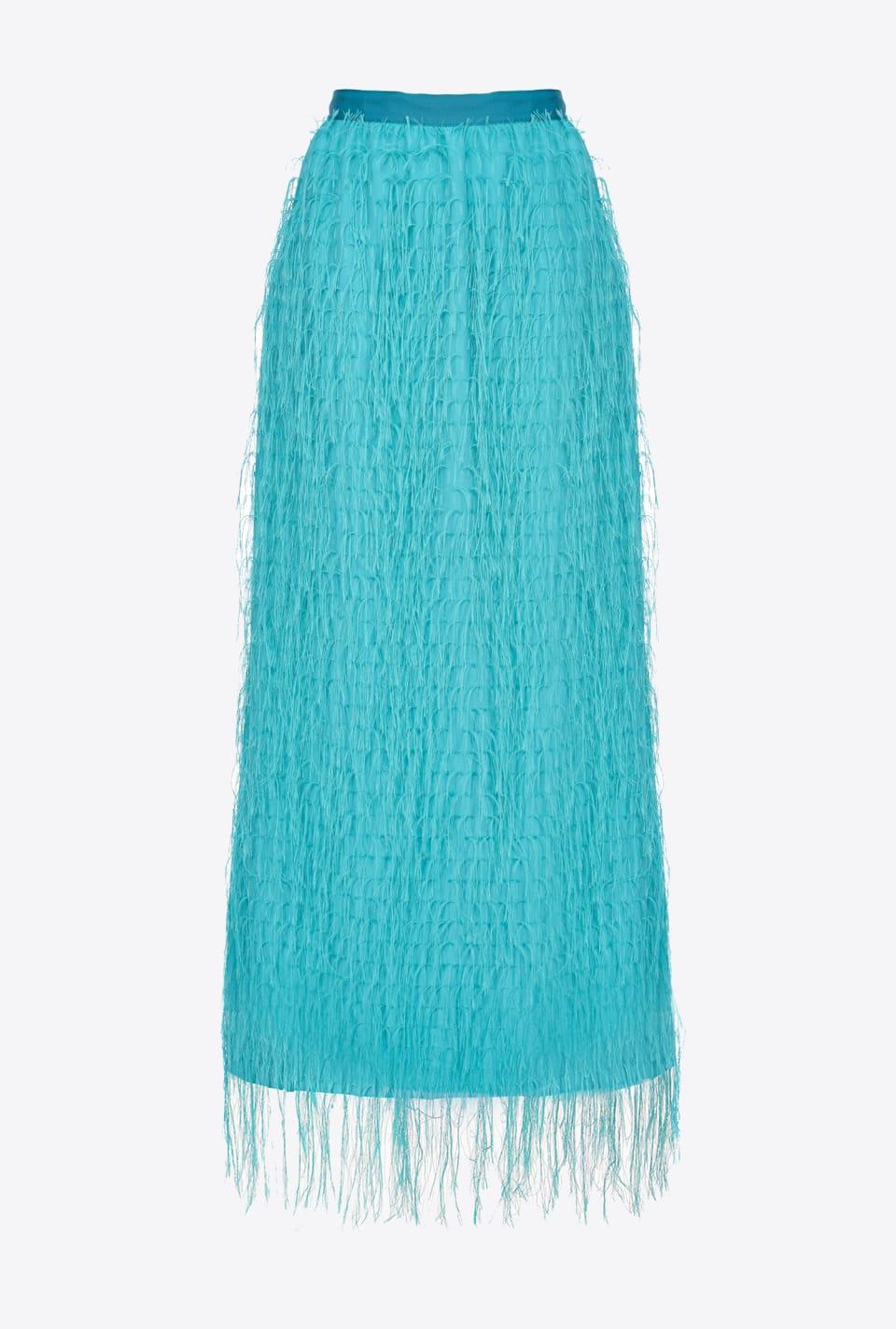 Fil coupé fringed skirt - Pinko