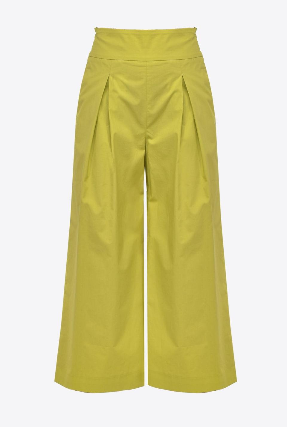 Pantalon cropped large en popeline - Pinko