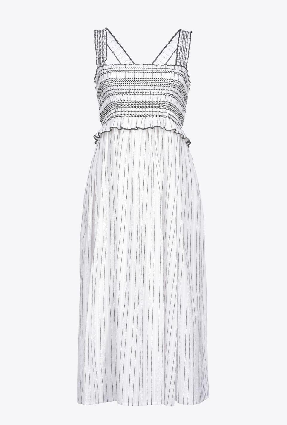 Striped dress with straps - Pinko