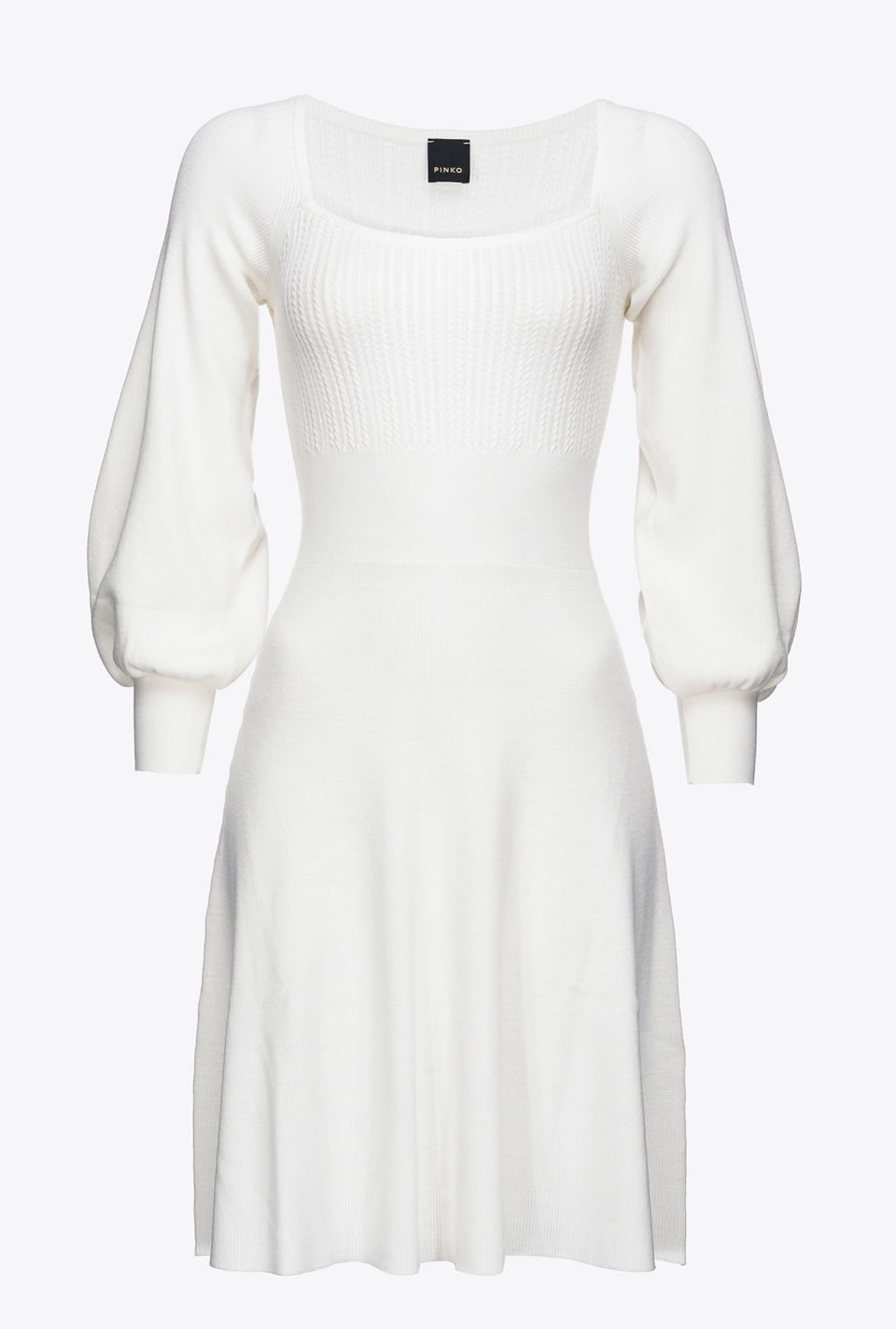 Short knitted dress with full sleeves - Pinko