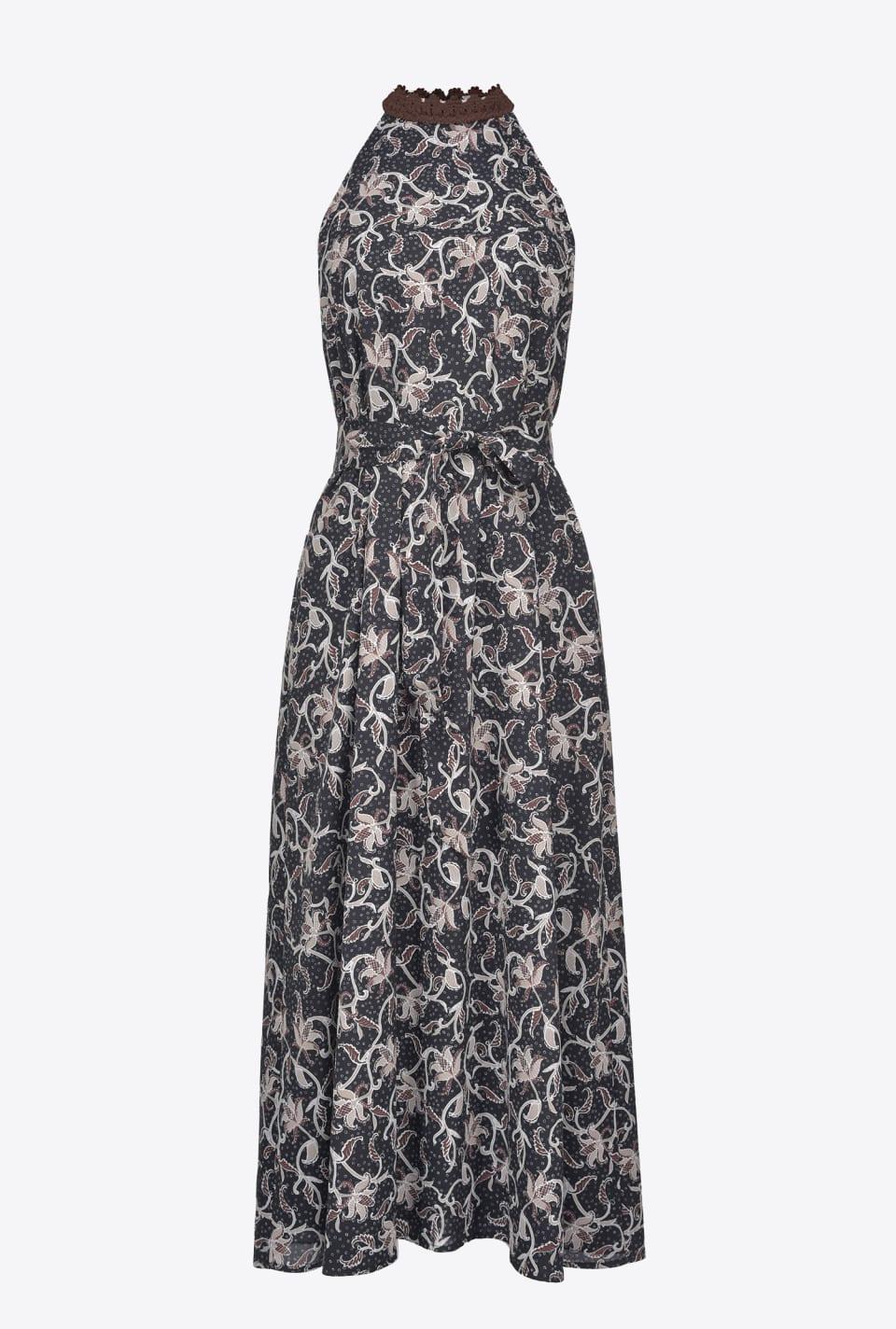 Midi dress with foliage print - Pinko