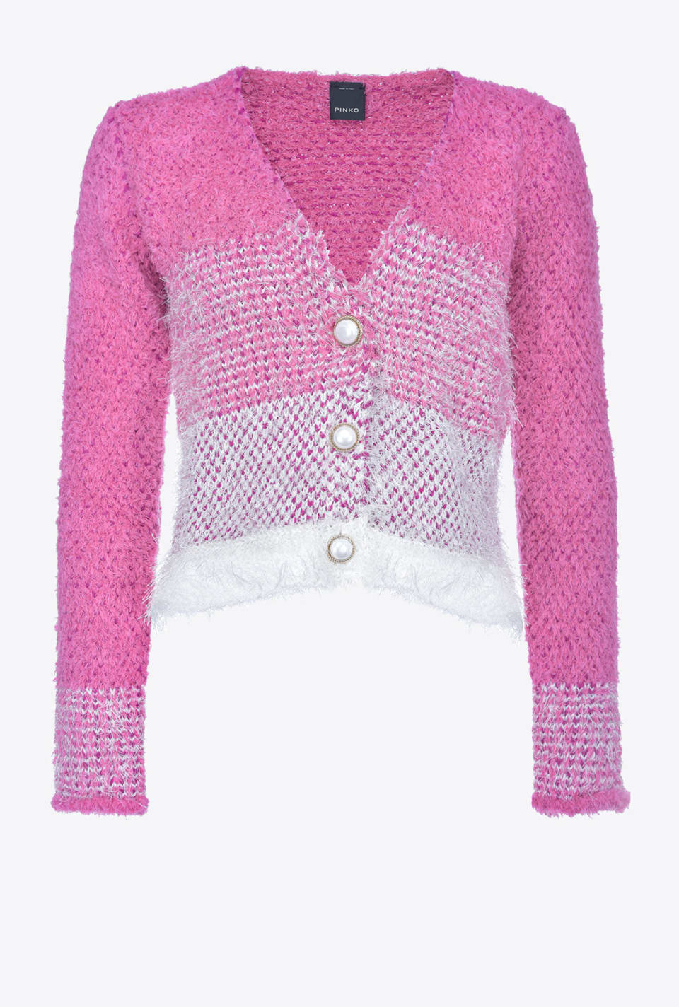 Faded terry-effect cardigan - Pinko