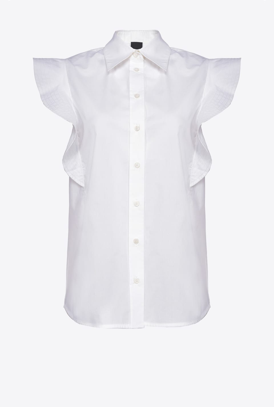 Sleeveless shirt with ruffles - Pinko