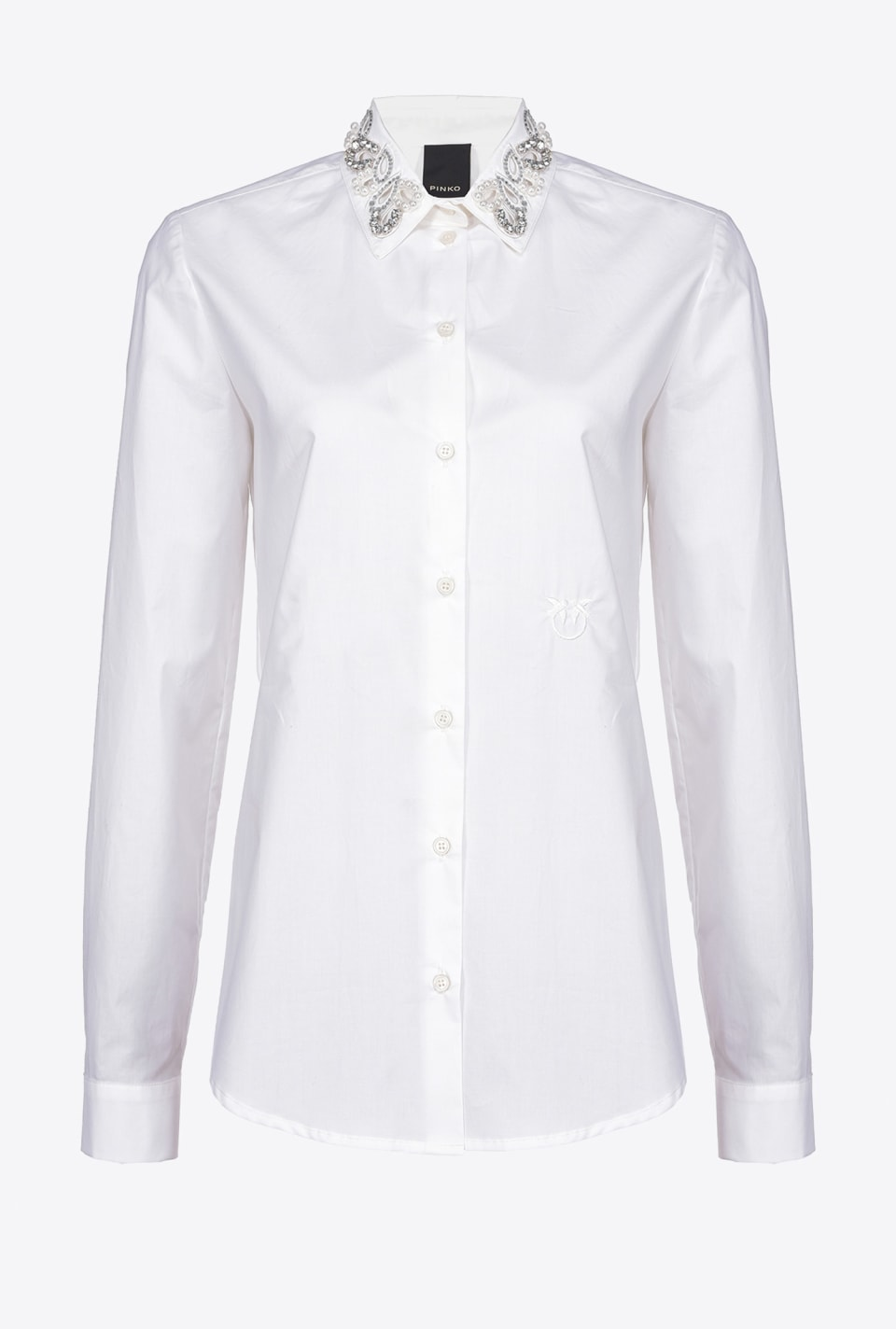 Jewel-collar shirt - Pinko