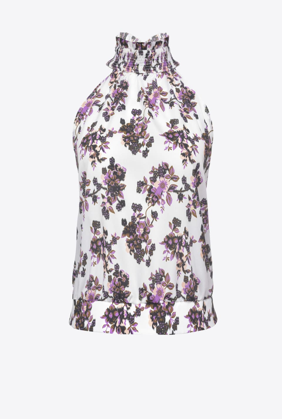 Top floral à encolure américaine - Pinko