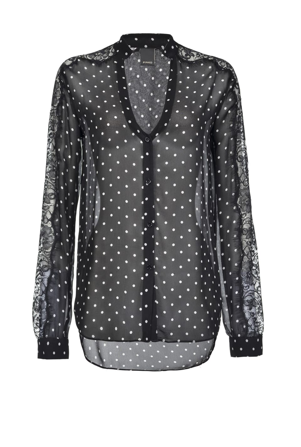Shirt with polka dot print - Pinko