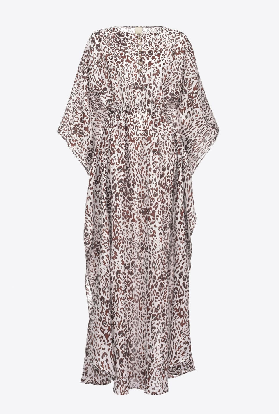 斑点印花卡夫坦长衫式连衣裙 - Pinko