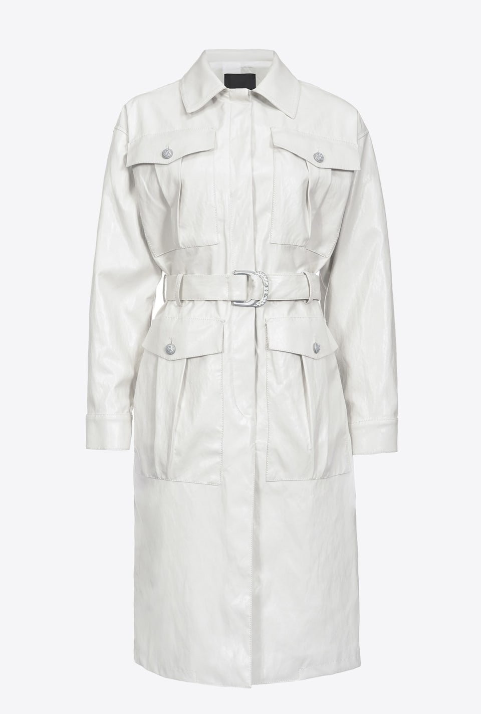 Trenchcoat in Lederoptik - Pinko