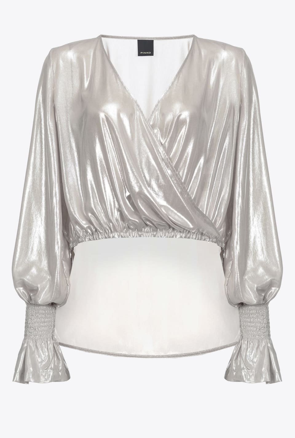 Laminated georgette blouse - Pinko