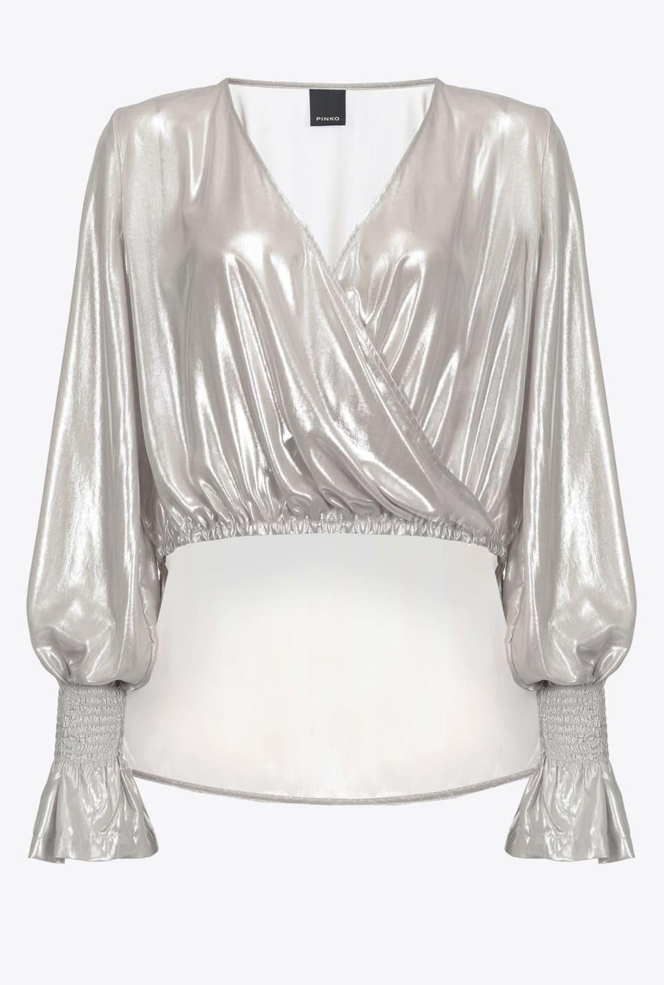 Bluse aus beschichtetem Georgette - Pinko