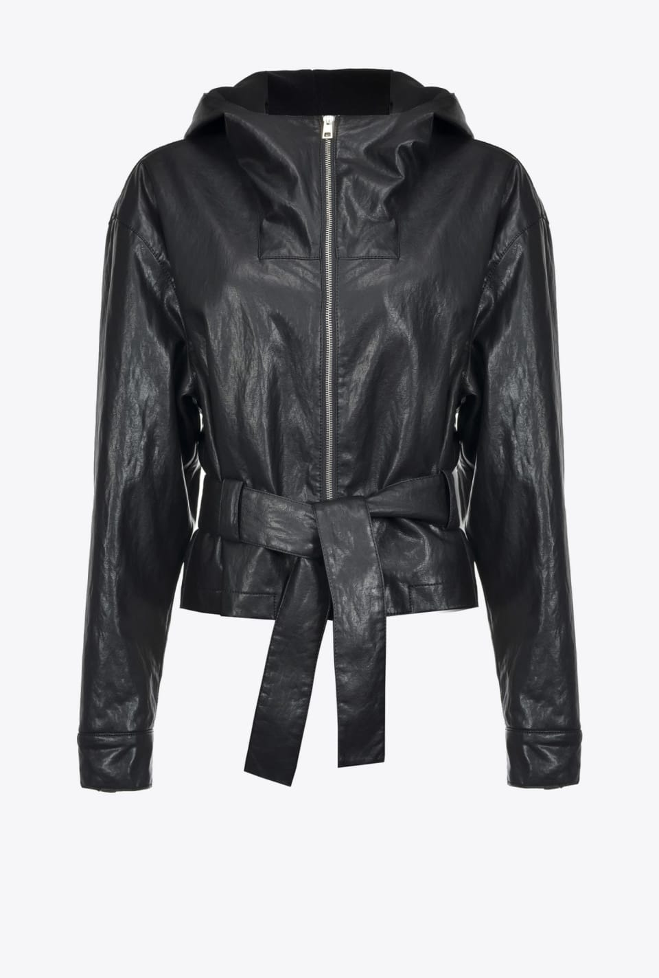 Jacket in leather-look fabric - Pinko