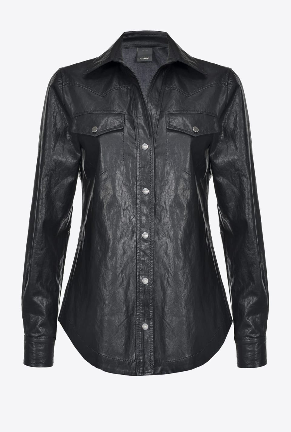 Leather look shirt - Pinko