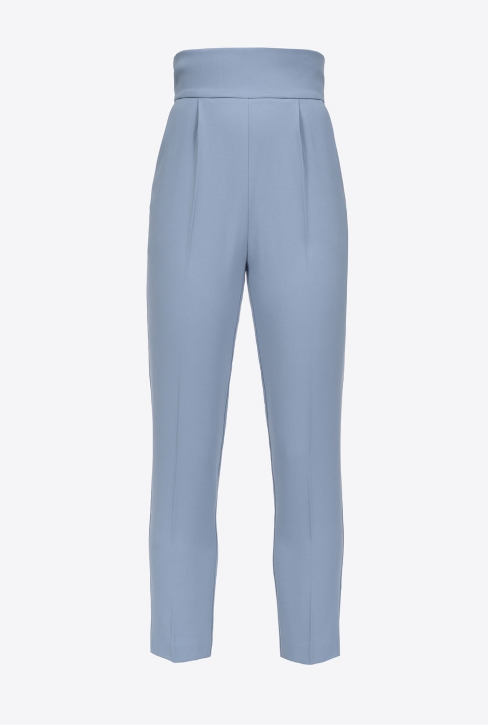 High-waist trousers in stretch crepe - Pinko