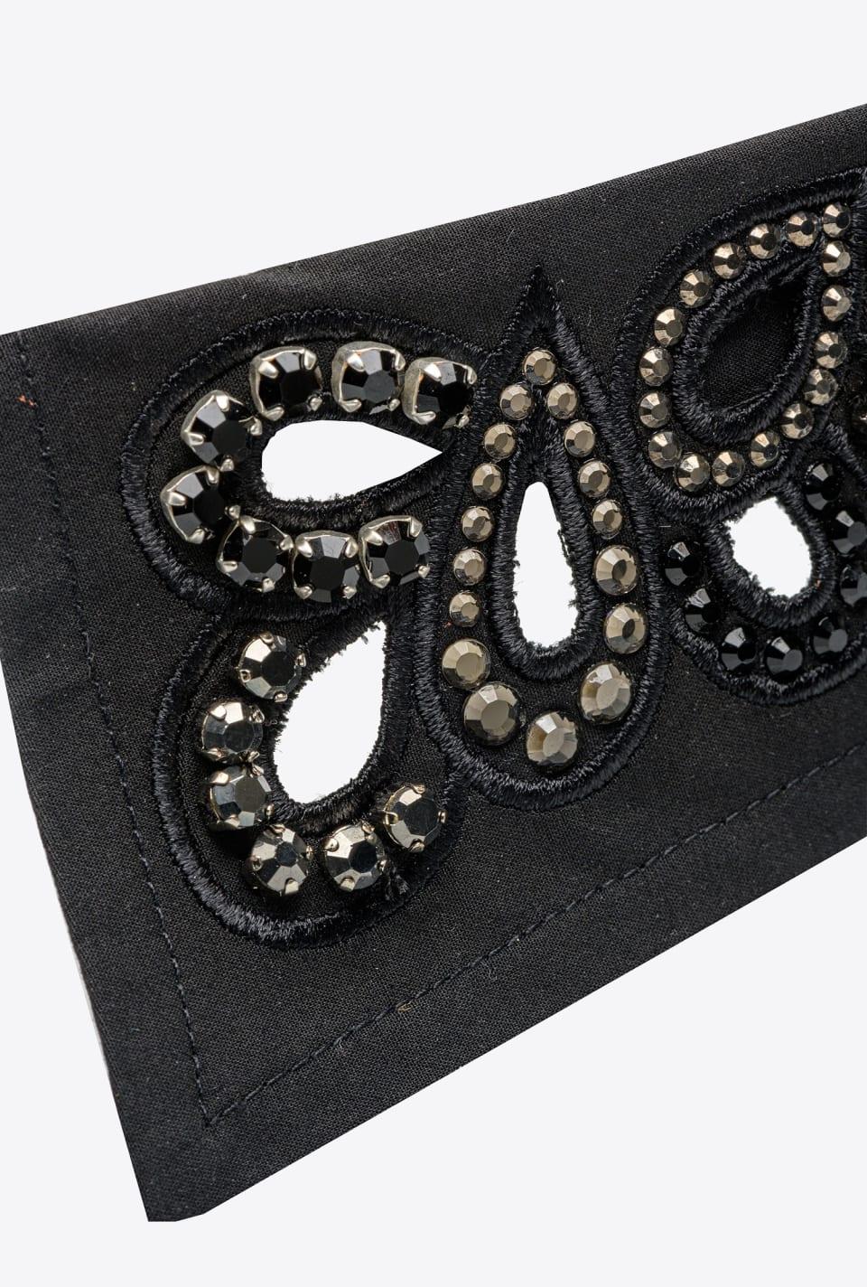 珠宝刺绣装饰府绸衣领 - Pinko